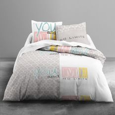 Parure de couette 100% coton Today 220x240 3pcs You And Me