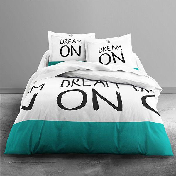 Parure de couette 100% coton Today 220x240 Dream On Color