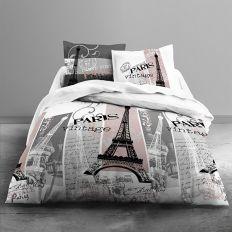 Parure de couette Today 100% Coton 3 pièces 240x260 Vintage Paris
