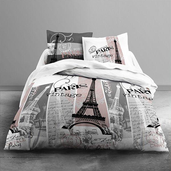 achat parure de couette today 100 coton 3 pi ces 240x260. Black Bedroom Furniture Sets. Home Design Ideas