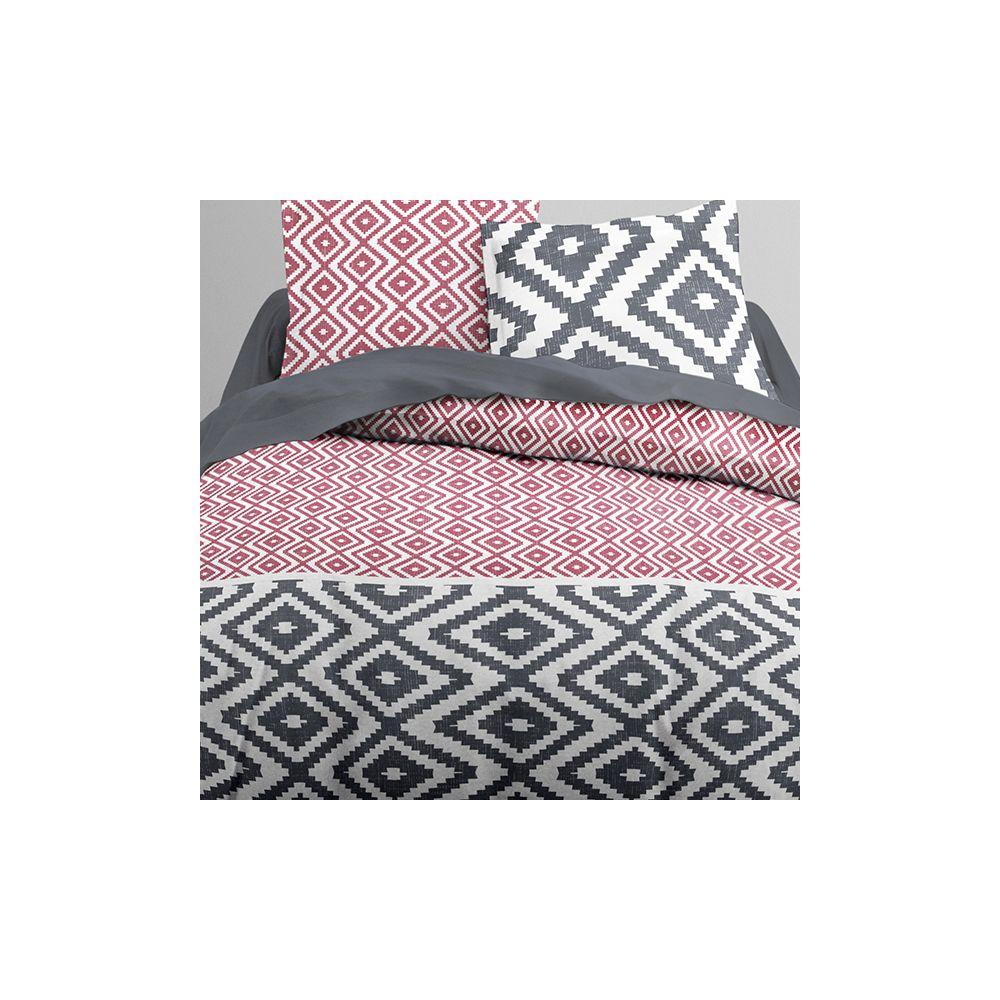 achat parure de couette today 100 coton 3 pi ces 240x260 kami pas cher. Black Bedroom Furniture Sets. Home Design Ideas