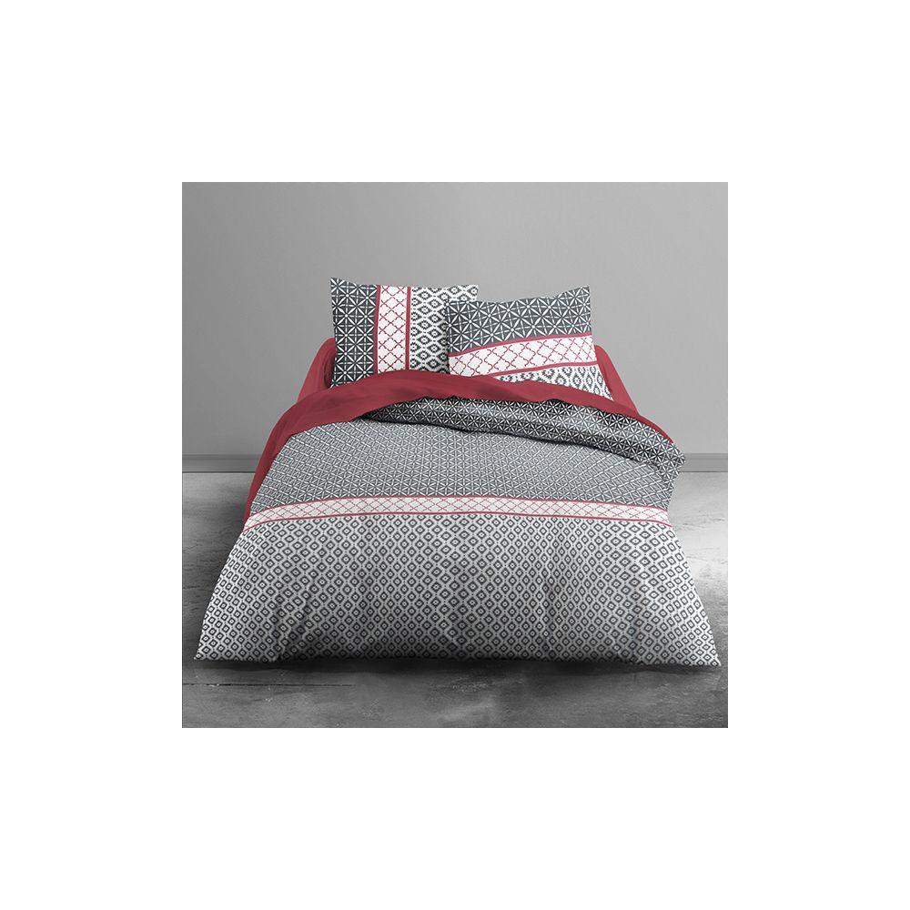 achat parure de couette today 100 coton 3 pi ces 240x260 kothlys pas cher. Black Bedroom Furniture Sets. Home Design Ideas