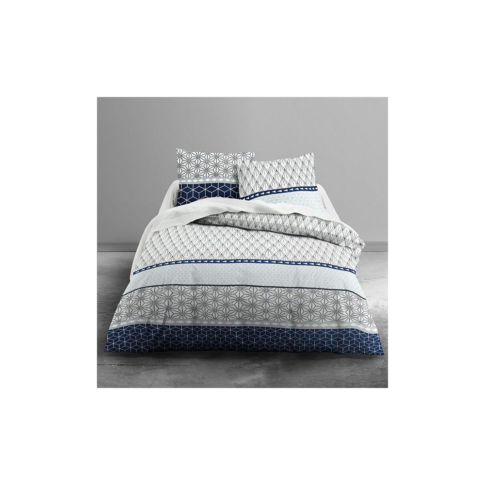 achat parure de couette today 100 coton 3 pi ces 240x260 kuat pas cher. Black Bedroom Furniture Sets. Home Design Ideas