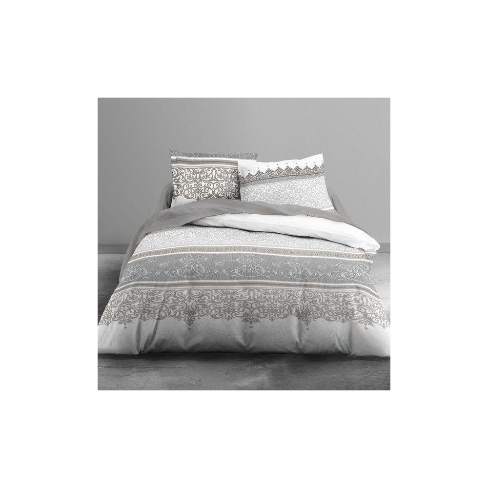 Achat parure de lit coton 220x240 cm today barok pas cher - Parure de lit 220x240 ...