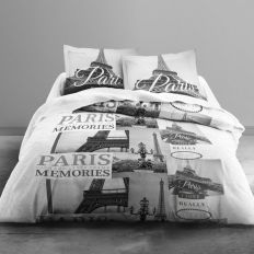 Parure de lit Microfibre 220x240 cm Today Paris Memories