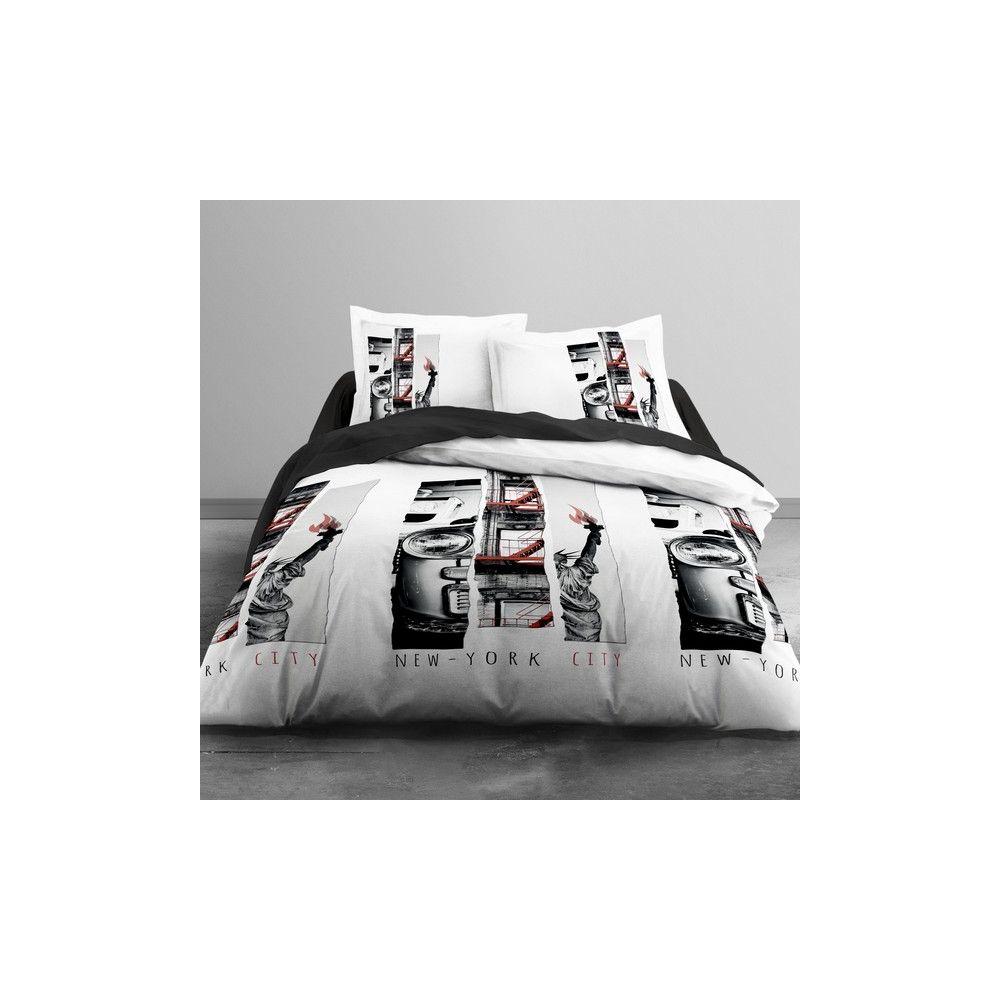 achat parure de lit coton 240x260 cm today nyc light pas cher. Black Bedroom Furniture Sets. Home Design Ideas