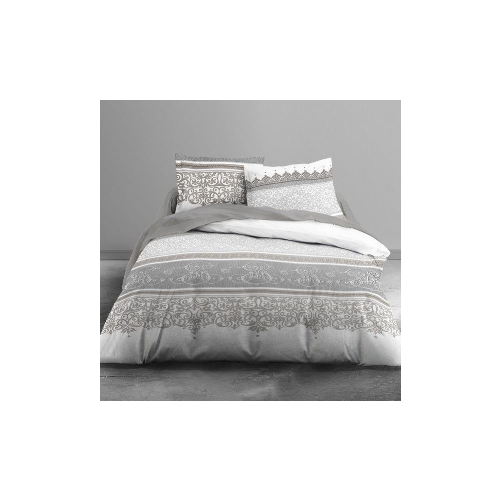 achat parure de lit coton 240x260 cm today baroco pas cher