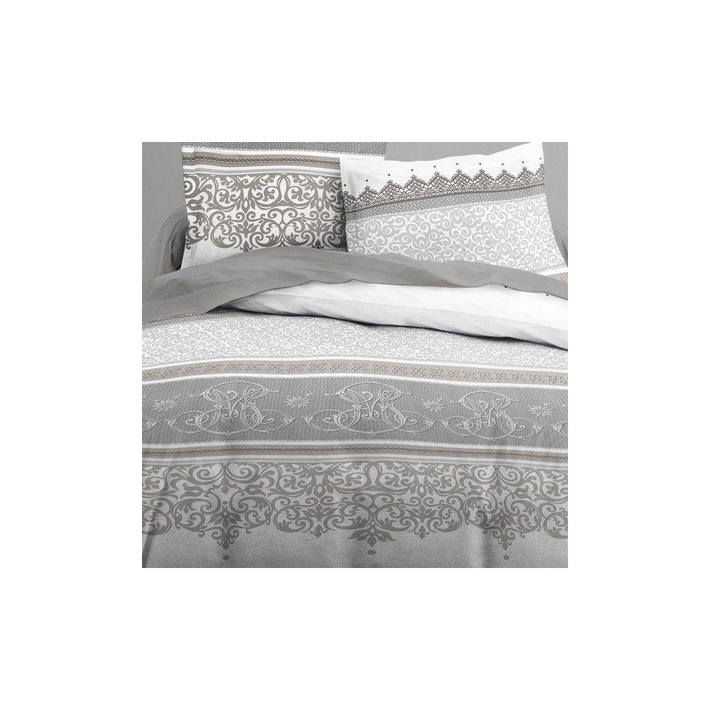 achat parure de lit coton 240x260 cm today baroco pas cher. Black Bedroom Furniture Sets. Home Design Ideas