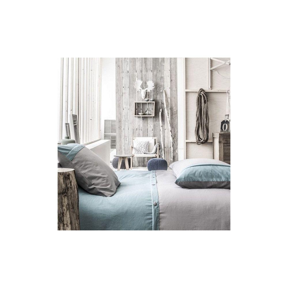achat parure de lit coton 240x260 cm today gris givre. Black Bedroom Furniture Sets. Home Design Ideas