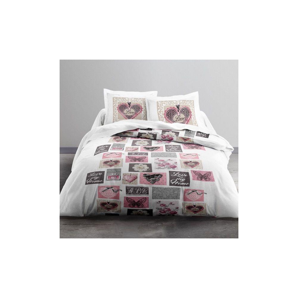 achat parure de lit microfibre 220x240 cm today love my. Black Bedroom Furniture Sets. Home Design Ideas