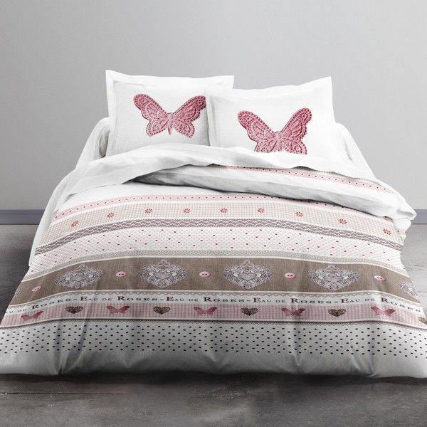 Parure de lit Microfibre 220x240 cm Today Cute Butterfly
