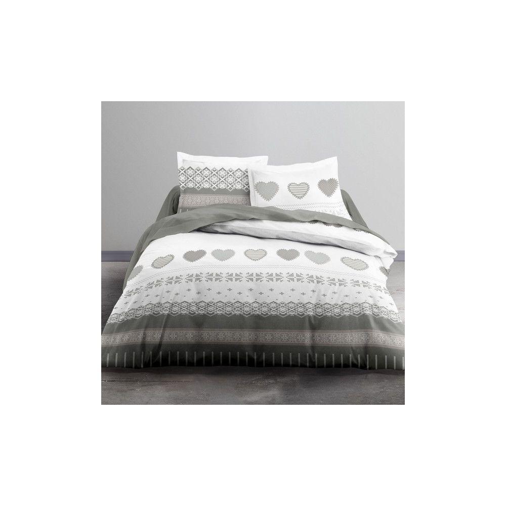 Achat parure de lit coton 220x240 cm today courchevel pas cher - Parure de lit 220x240 ...