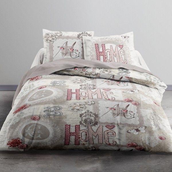 achat parure de lit coton 220x240 cm today home heart pas cher. Black Bedroom Furniture Sets. Home Design Ideas