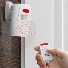Alarme sans fil à détecteur de mouvement + 2 Télécommandes