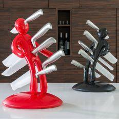 Set 5 couteaux + porte couteaux Voodoo