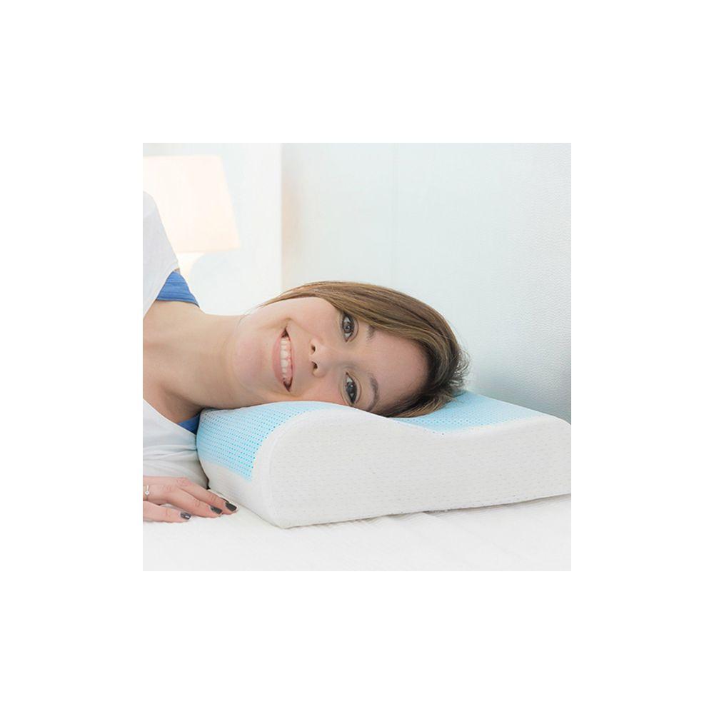 achat oreiller mousse visco lastique avec gel pas cher. Black Bedroom Furniture Sets. Home Design Ideas