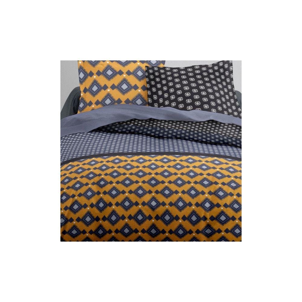 today achat parure de lit coton 240x260 mokaite pas cher. Black Bedroom Furniture Sets. Home Design Ideas