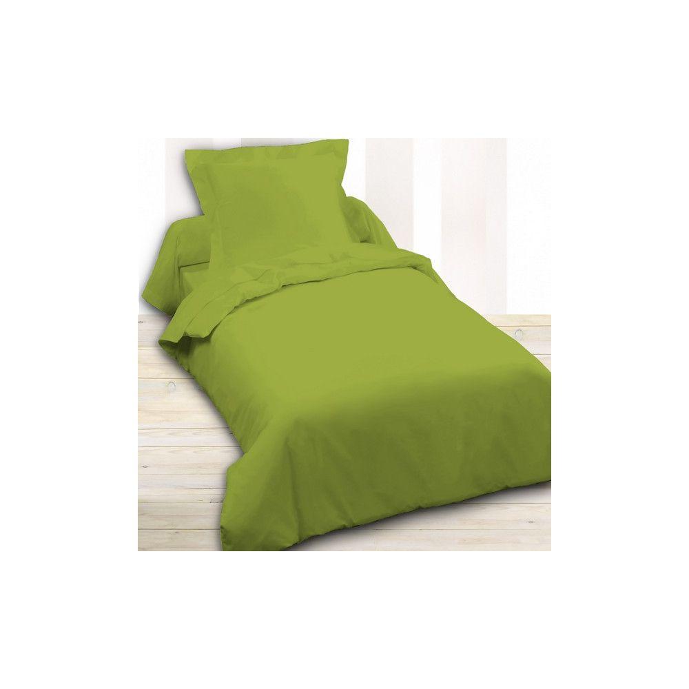 today achat housse de couette coton 140x200 fougere pas cher. Black Bedroom Furniture Sets. Home Design Ideas