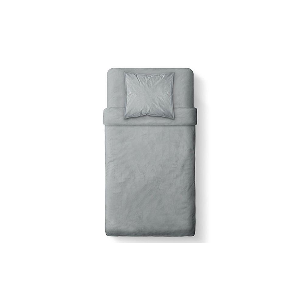 today achat housse de couette coton 140x200 zinc pas cher. Black Bedroom Furniture Sets. Home Design Ideas