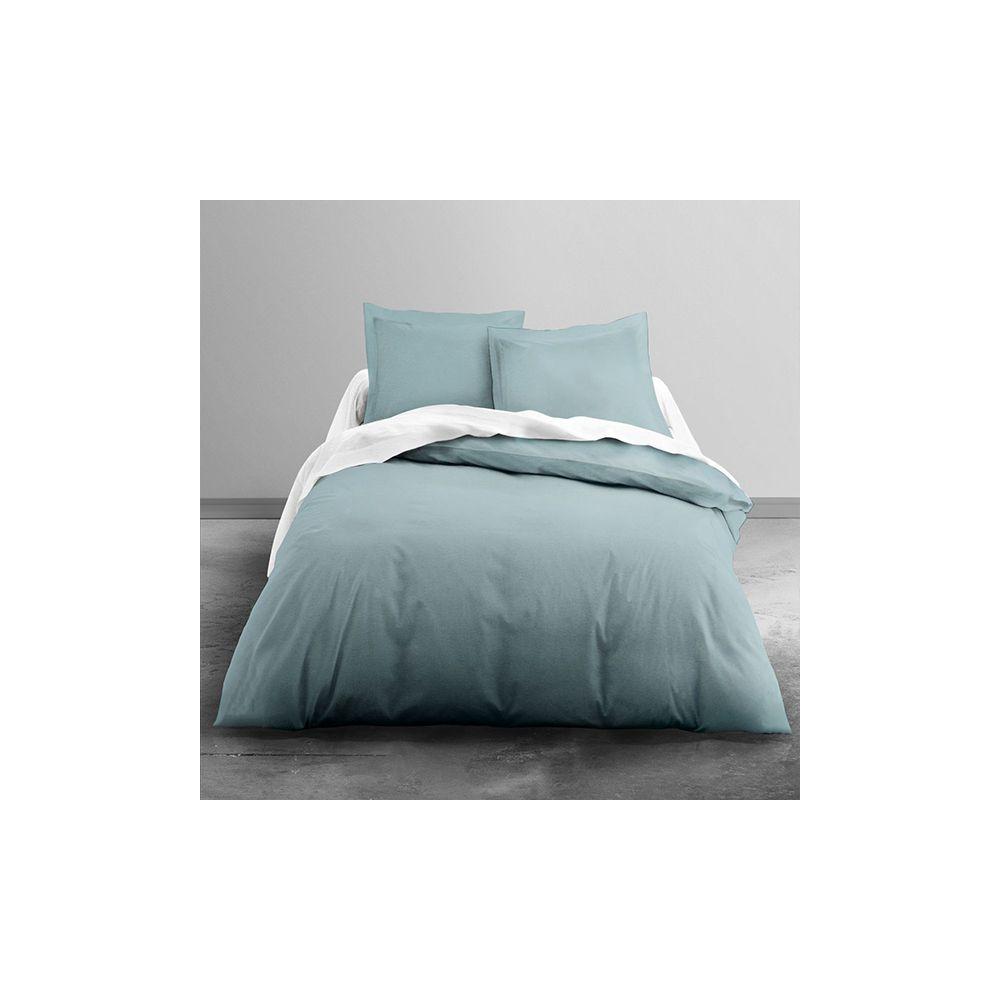 today achat parure de lit coton lav 220x240 vert de. Black Bedroom Furniture Sets. Home Design Ideas