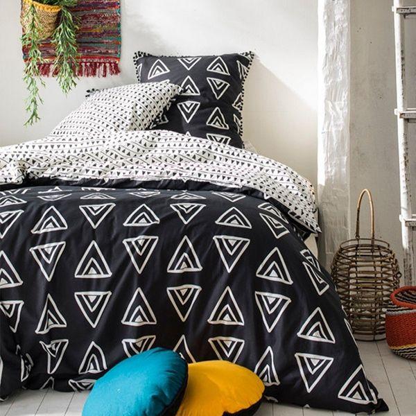 Parure de couette Today coton 220x240 Finition Pompons Nappa