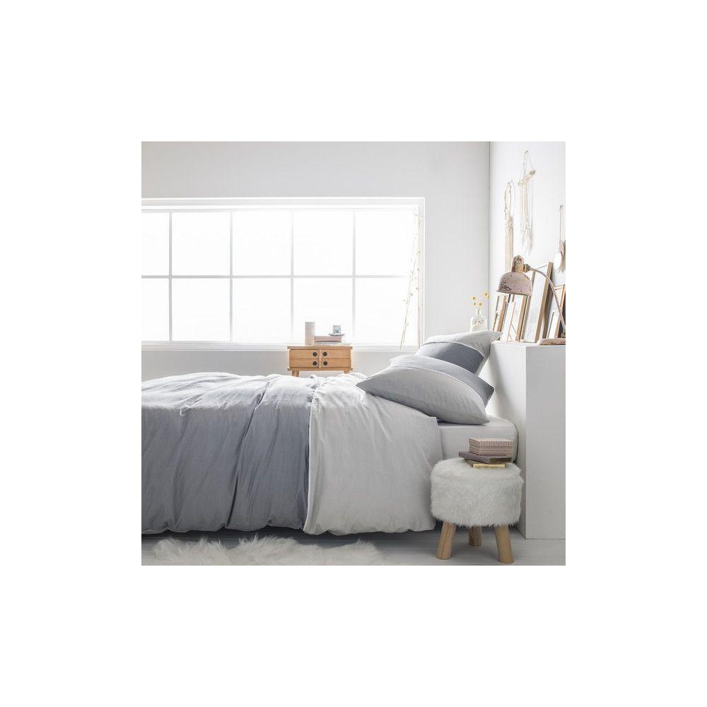 today achat parure de lit coton 220x240 fjord quartz pas. Black Bedroom Furniture Sets. Home Design Ideas