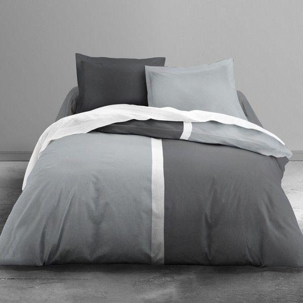 today achat parure de lit microfibre 220x240 first biko gris gris pas cher. Black Bedroom Furniture Sets. Home Design Ideas