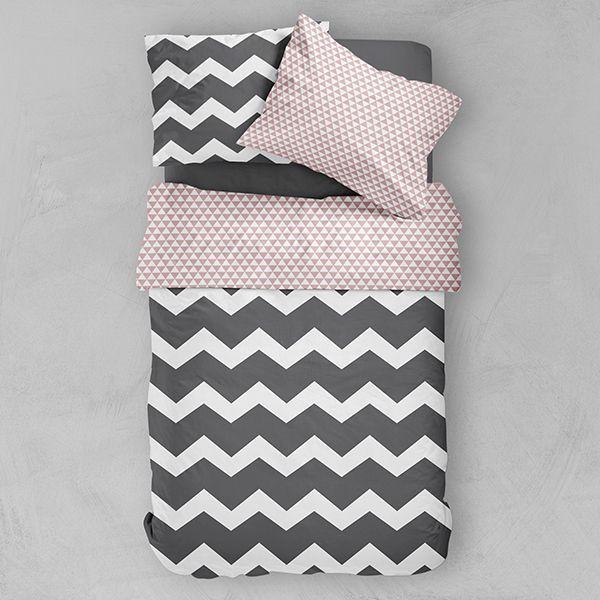 today achat parure de lit microfibre 240x260 jazzy pas cher. Black Bedroom Furniture Sets. Home Design Ideas