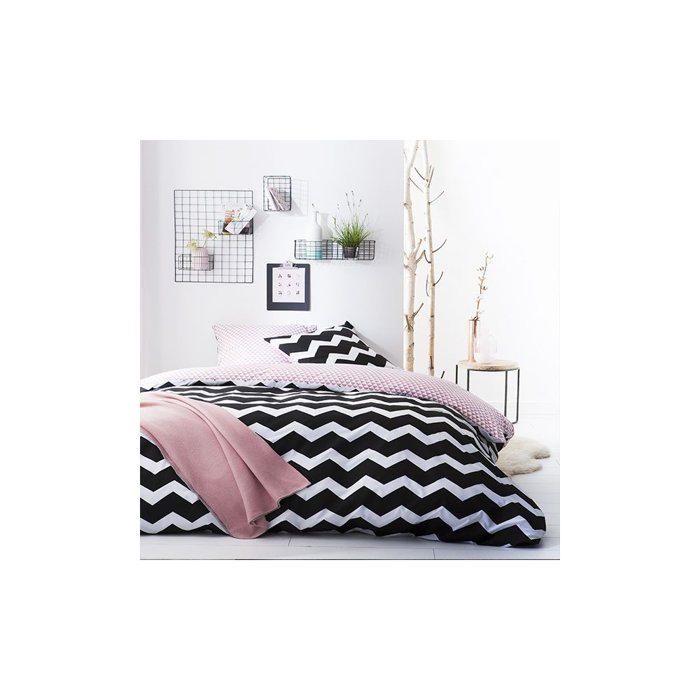 today achat parure de lit microfibre 240x260 jazzy pas cher. Black Bedroom Furniture Sets. Home Design Ideas