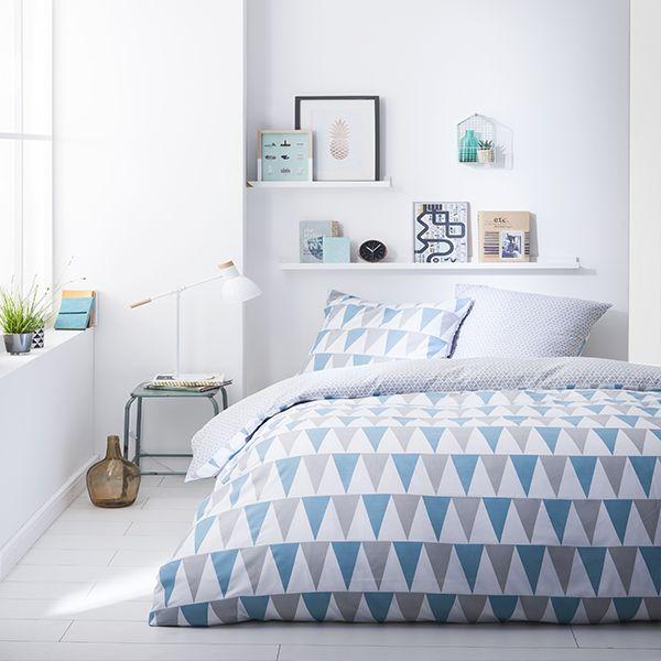 today achat parure de lit microfibre 220x240 lake pas cher. Black Bedroom Furniture Sets. Home Design Ideas