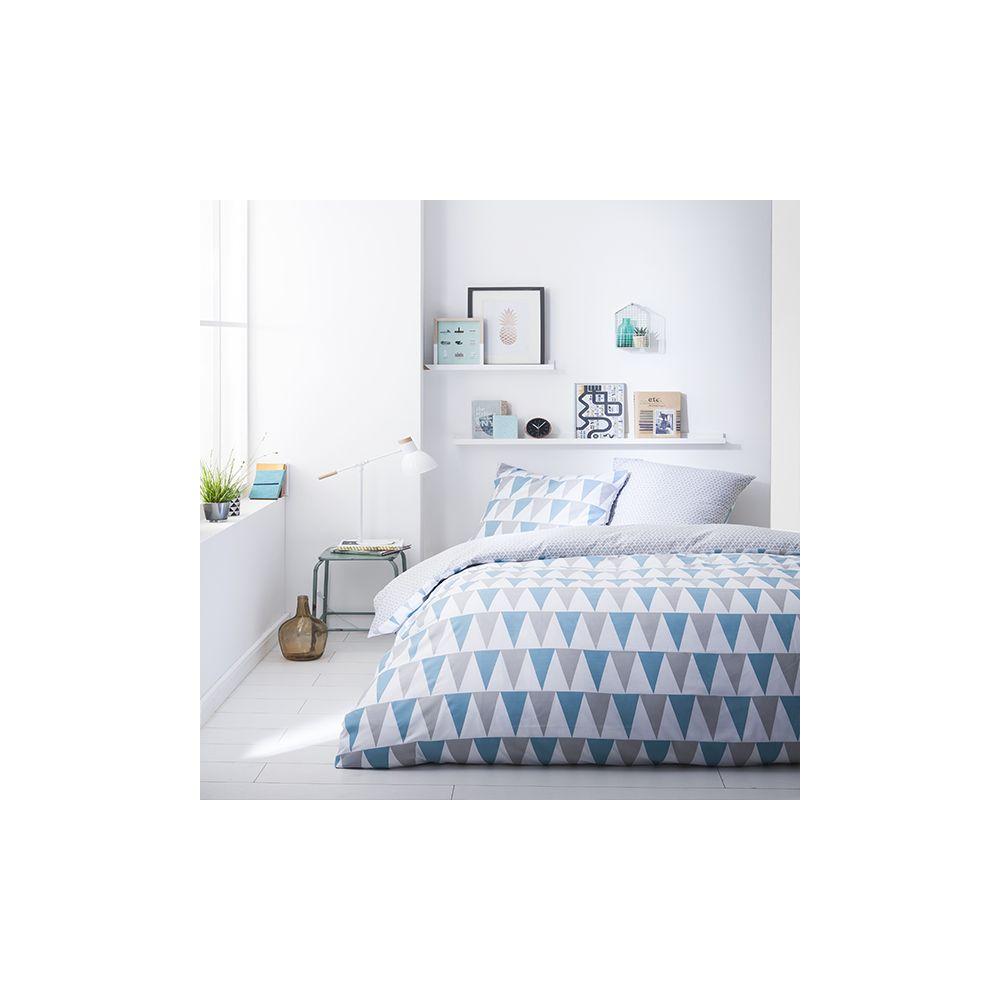 today achat parure de lit microfibre 240x260 lake pas cher. Black Bedroom Furniture Sets. Home Design Ideas