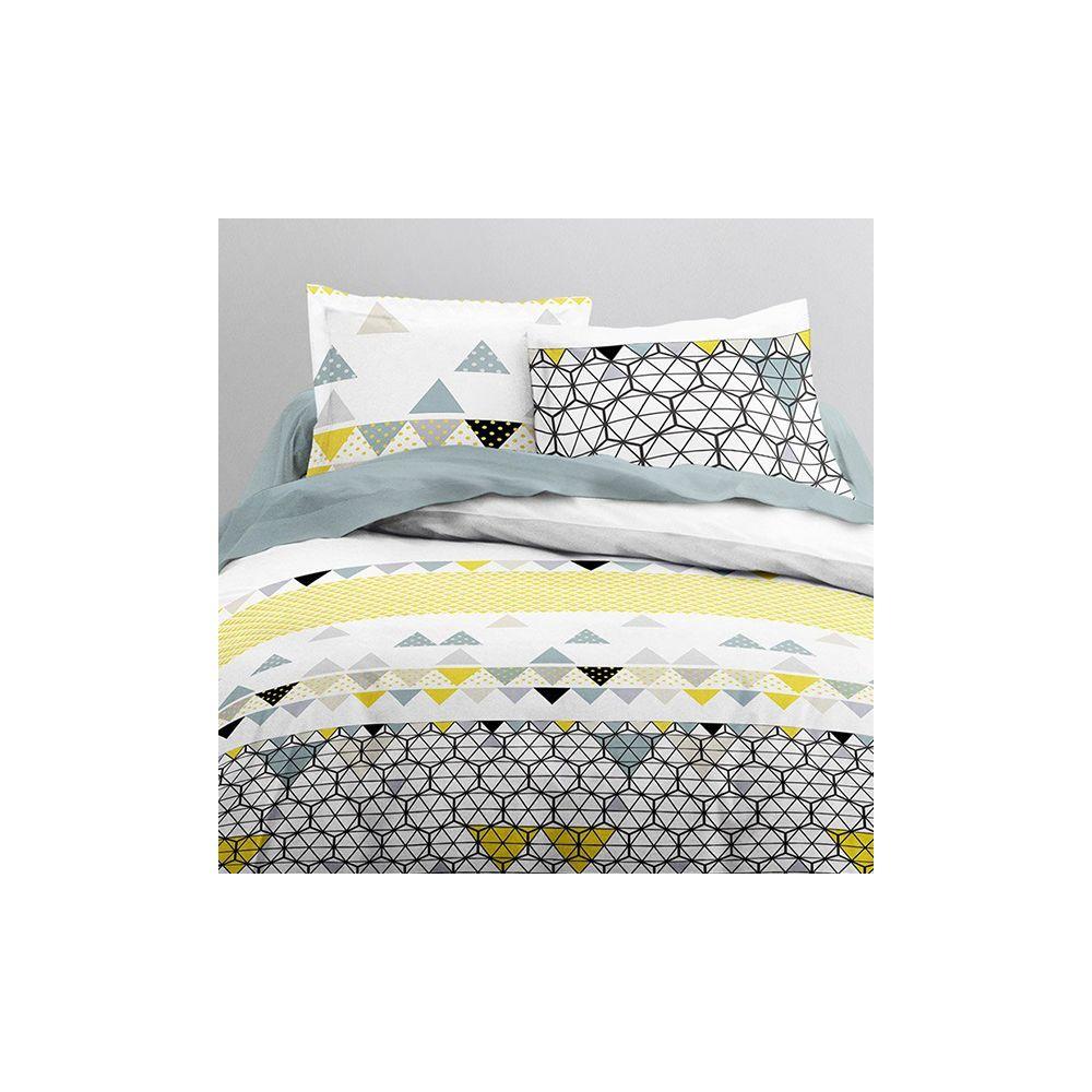 achat parure de couette coton 240x260 mawira ametrine pas cher. Black Bedroom Furniture Sets. Home Design Ideas