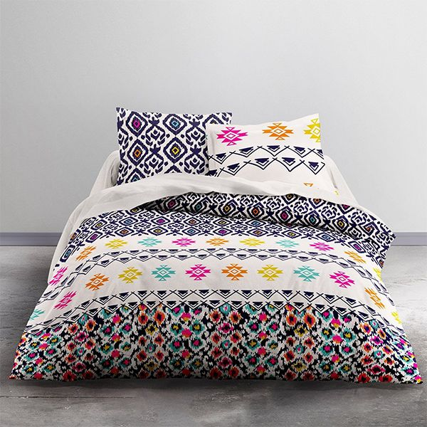 today parure de couette 100 coton woodstick 240x260 pas cher. Black Bedroom Furniture Sets. Home Design Ideas