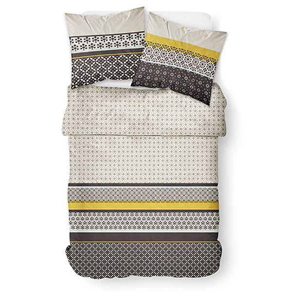 housse de couette parure de lit 3 pcs casablanca pas cher. Black Bedroom Furniture Sets. Home Design Ideas