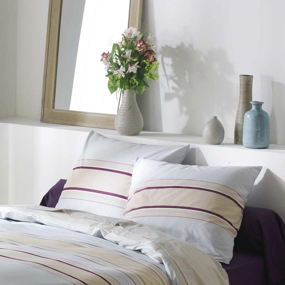 achat parure housse de couette 100 coton odaya pas cher. Black Bedroom Furniture Sets. Home Design Ideas