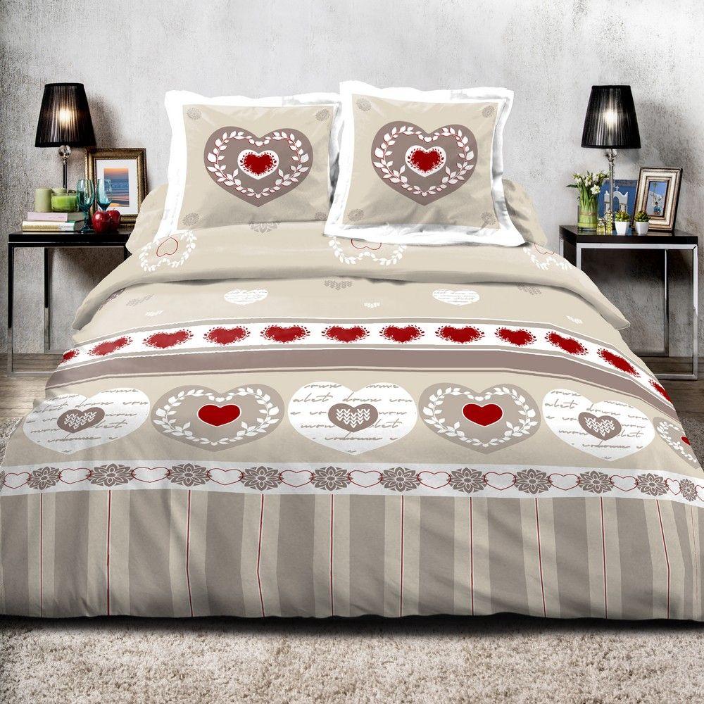 achat parure de couette coton romantique pas cher. Black Bedroom Furniture Sets. Home Design Ideas