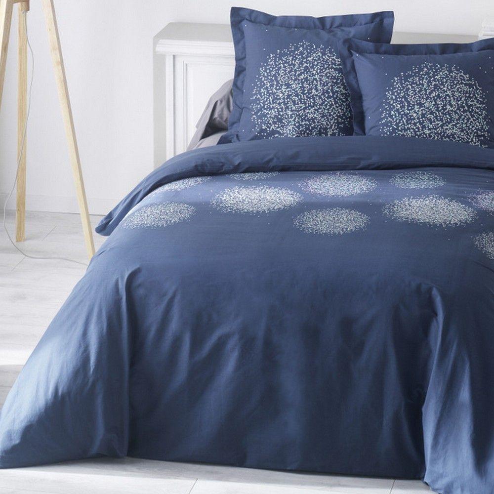 housse de couette achat parure de lit coton opale pas cher. Black Bedroom Furniture Sets. Home Design Ideas
