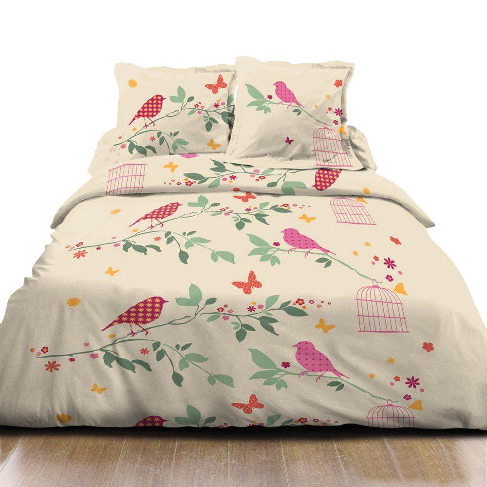 housse de couette achat parure de lit coton liberty pas cher. Black Bedroom Furniture Sets. Home Design Ideas