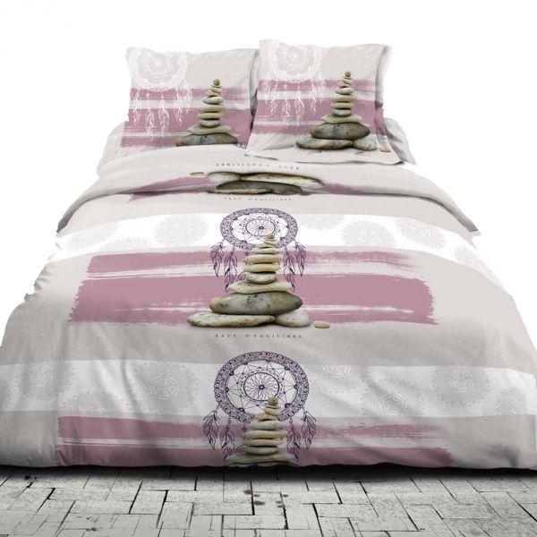 housse de couette achat parure de lit coton zen reve pas. Black Bedroom Furniture Sets. Home Design Ideas