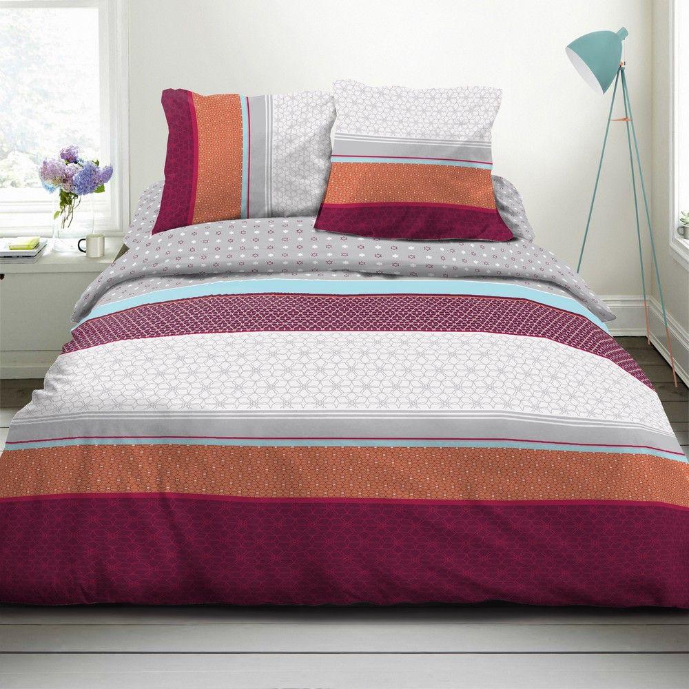 housse de couette achat parure de lit coton isai pas cher. Black Bedroom Furniture Sets. Home Design Ideas