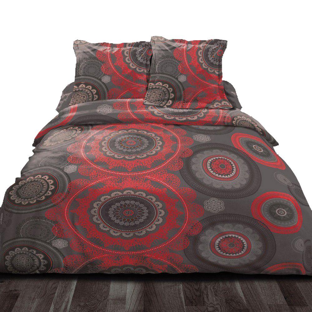 housse de couette achat parure de lit coton mandala pas cher. Black Bedroom Furniture Sets. Home Design Ideas