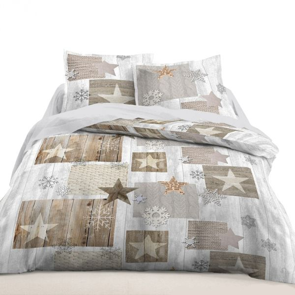 housse de couette achat parure de lit coton etoiles pas cher. Black Bedroom Furniture Sets. Home Design Ideas