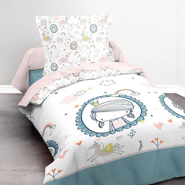 Parure de lit coton 140x200 cm Today Unicorn