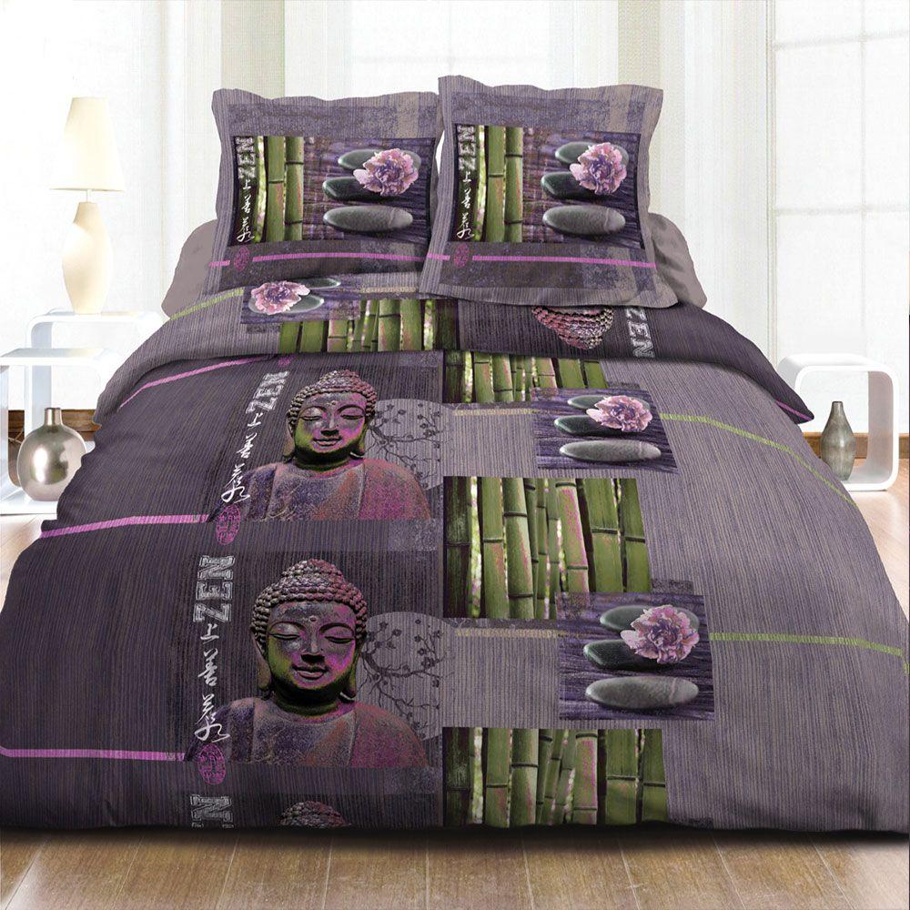 housse de couette achat parure de couette 100 coton zen. Black Bedroom Furniture Sets. Home Design Ideas