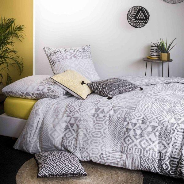 housse de couette parure de couette coton arto 240x260 cm pas cher. Black Bedroom Furniture Sets. Home Design Ideas