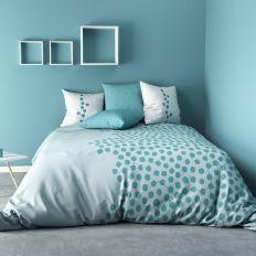 Parure de couette coton 220x240 cm Ayna Turquoise