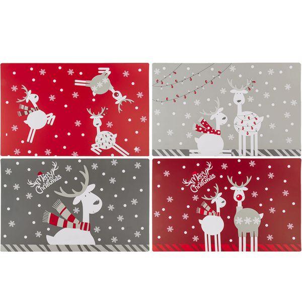 4 Sets de table spécial Noël Rennes Aléatoire