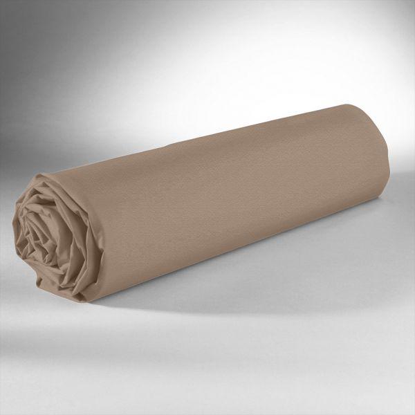 Drap housse 100% Satin de Coton 110 fils Ecorse