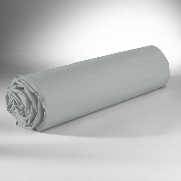 Drap housse 100% Satin de Coton 110 fils Sable