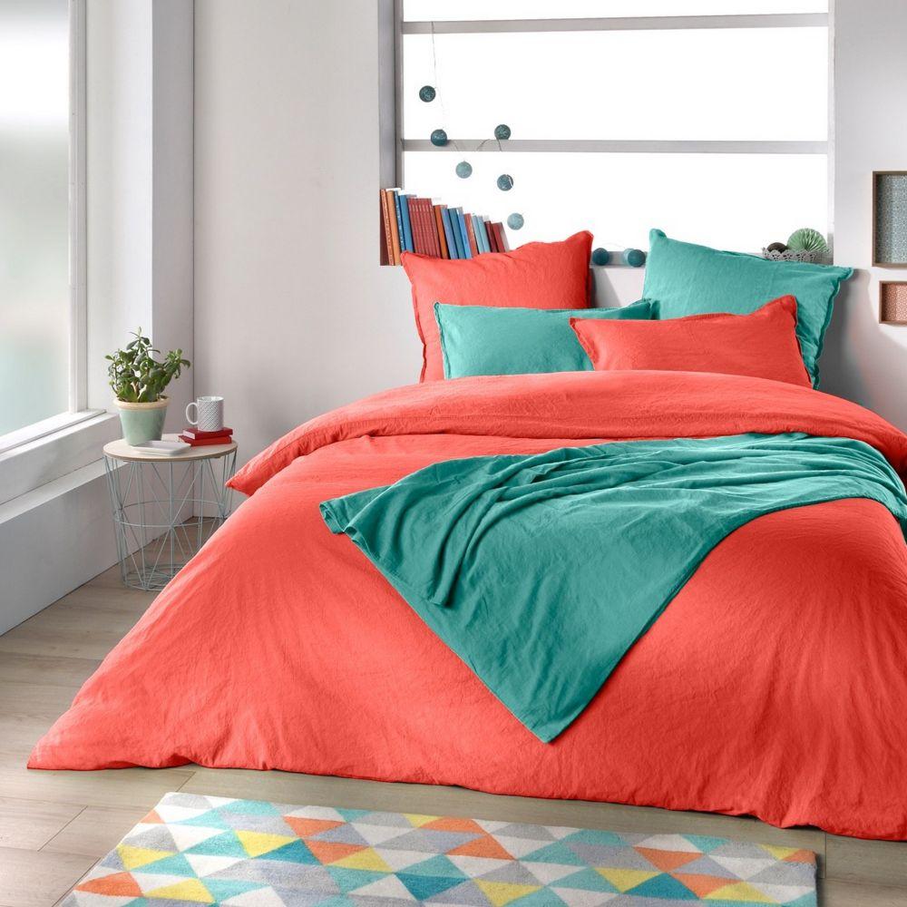 housse de couette 100 lin m tis blush 220x240 pas cher. Black Bedroom Furniture Sets. Home Design Ideas